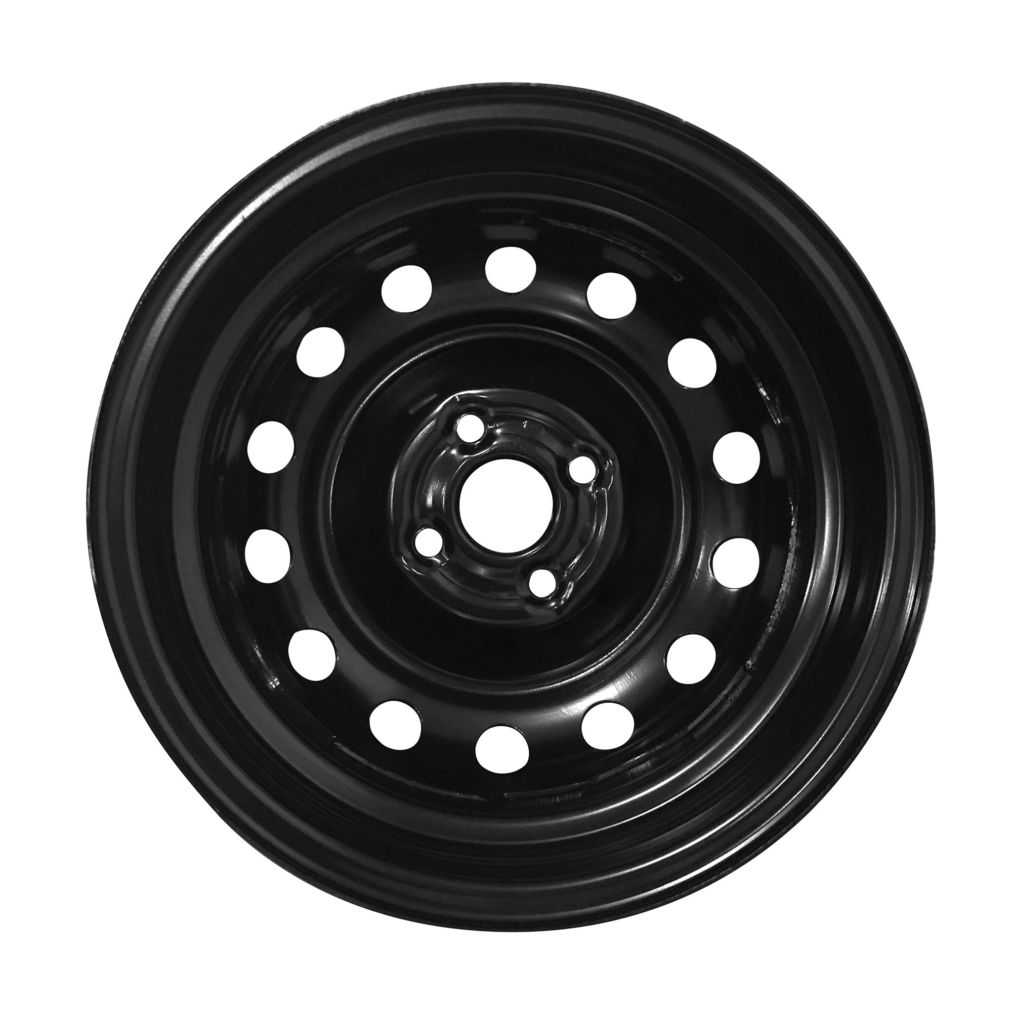 New 14x5 Inch 4 Lug 06-12 Toyota Yaris Full-Size Black Steel Replacement Wheel Rim by Road Ready Wheels (Image #2)