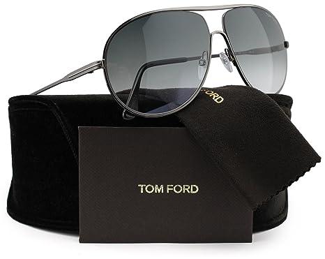d0804d7cc0 Amazon.com  TOM FORD FT0450 Cliff Men Aviator Sunglasses Gunmetal w Grey  Gradient (09B) TF 450 09B 61mm Authentic  Clothing