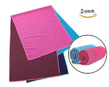 erert refrigeración toalla, el original Frío Pad Toalla de microfibra para deporte, yoga, entrenamiento, Fitness, gimnasio, camping y más: Amazon.es: Hogar