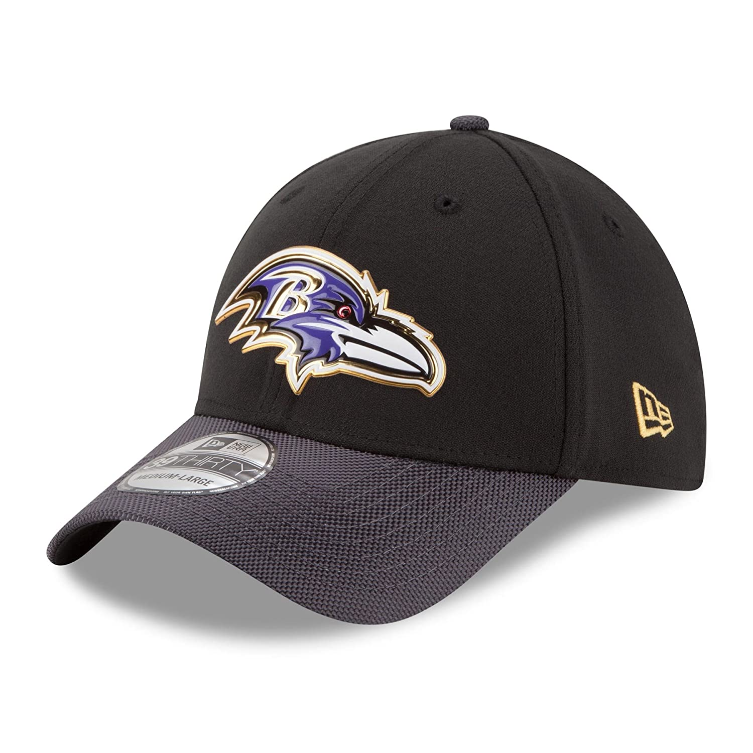 a2a9d1c21f6 Amazon.com   Baltimore Ravens New Era 39THIRTY NFL 2015 Gold On-Field  Performance Flex Hat   Sports   Outdoors