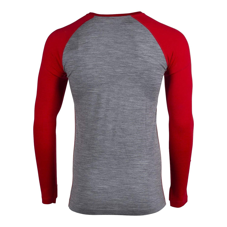 Mens Aspect Midweight Merino Wool Base Layer Long Sleeve Shirt