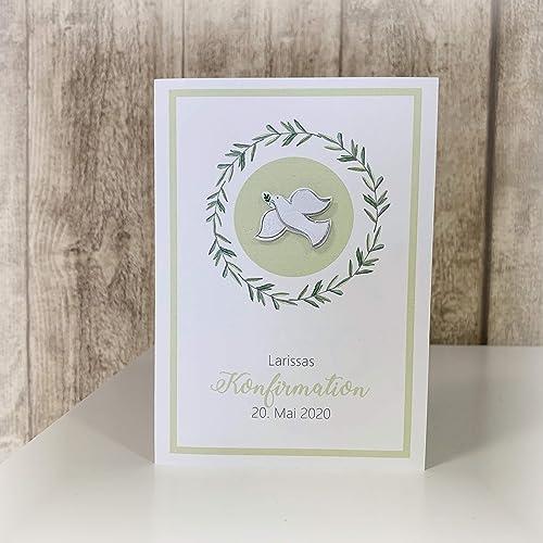 Einladung Einladungskarte Kommunion Tauben Basteln Malen