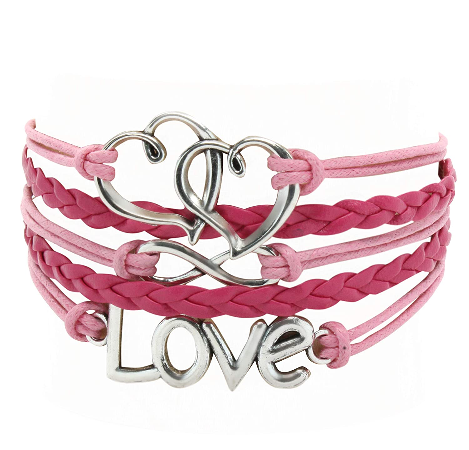 1bfe5d449 Leather Multilayer Bracelet I Trendy Leather Wrap Charm Bracelet | Genuine  Leather Bracelet for Teenage Girls & Young Women.