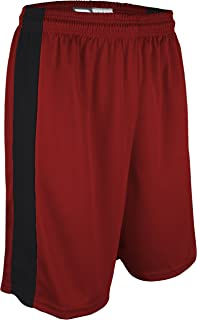 """product image for PT-6939-CB Performance Dry Fit 9"""" Short with White Side Panel-Made with Moisture Management and Odor Defense-Running, Basketball, Cross Training, and Gym-Sizes SM-XXXL. (XXX-Large, Red/Black)"""