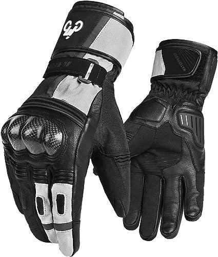 Motorbike Motor Cycle Leather Gloves Waterproof Windproof All Weather