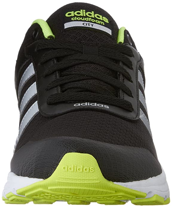 new style 790bb be912 Amazon.com  adidas NEO Mens Cloudfoam VS City Shoes, BlackMetallic  SilverYellow, 12 M US  Soccer