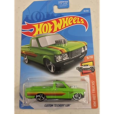 "Hot Wheels 2020 Custom '72 Chevy LUV HW Hot Trucks 9/10"" Collector # 030/250 Green USA Card: Toys & Games"