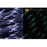 BoredParacord Brand 550 lb Reflective & Glow in the Dark Tracer Black Paracord (100 feet)
