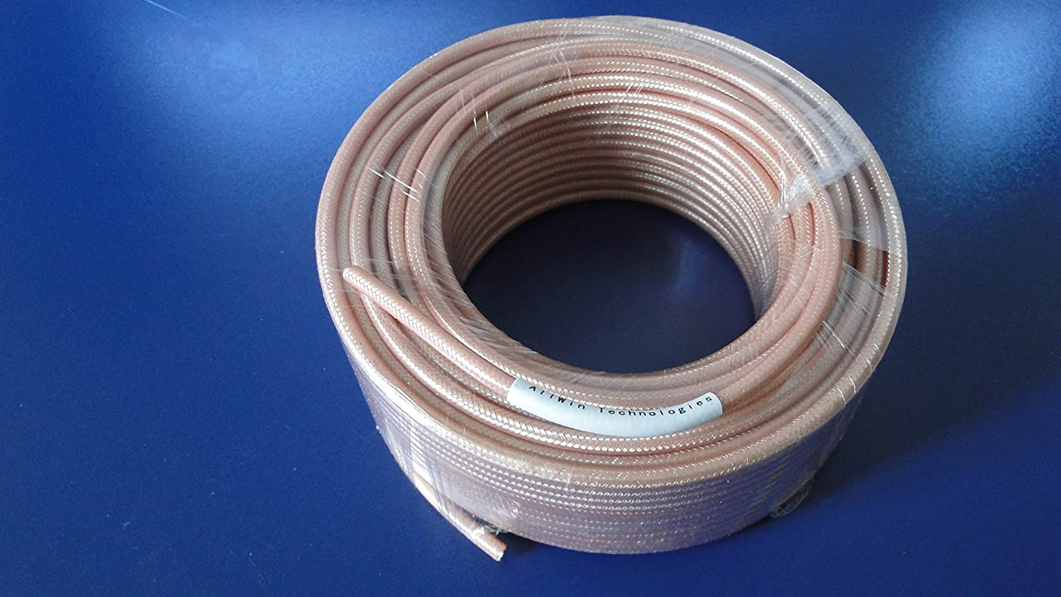 100ft 50ohm Coaxial Cable with Tan FEP Jacket RG142 Double Shielded