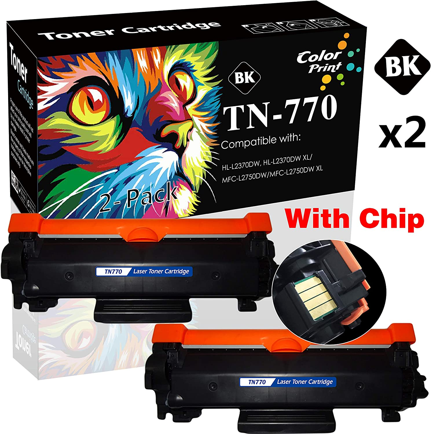 Black, 3 - Pack Supply Spot Compatible Toner Cartridge Replacement for Brother TN770 TN-770