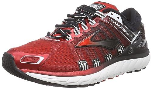658803aac26 Brooks Men s Transcend 2 Running Shoes Red Rot (HighRiskRed Black White) 6