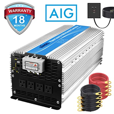 Giandel 5000W Heavy Duty Modified Sine Wave Power Inverter 12V DC to 110V 120V AC with Remote Control and 4 AC Outlets & USB Port for RV Truck Boat: Automotive