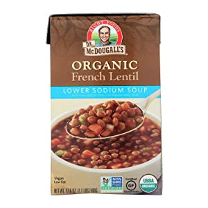 Dr Mcdougalls, Soup French Lentil Lower Sodium Organic, 18 Ounce, 6 Pack