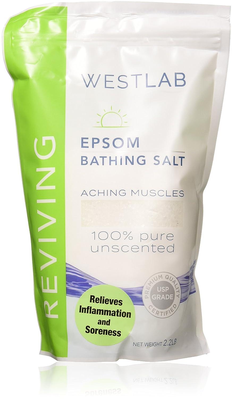 2 x 2.2lb (4.4lbs) Epsom Salt (unscented) Westlab