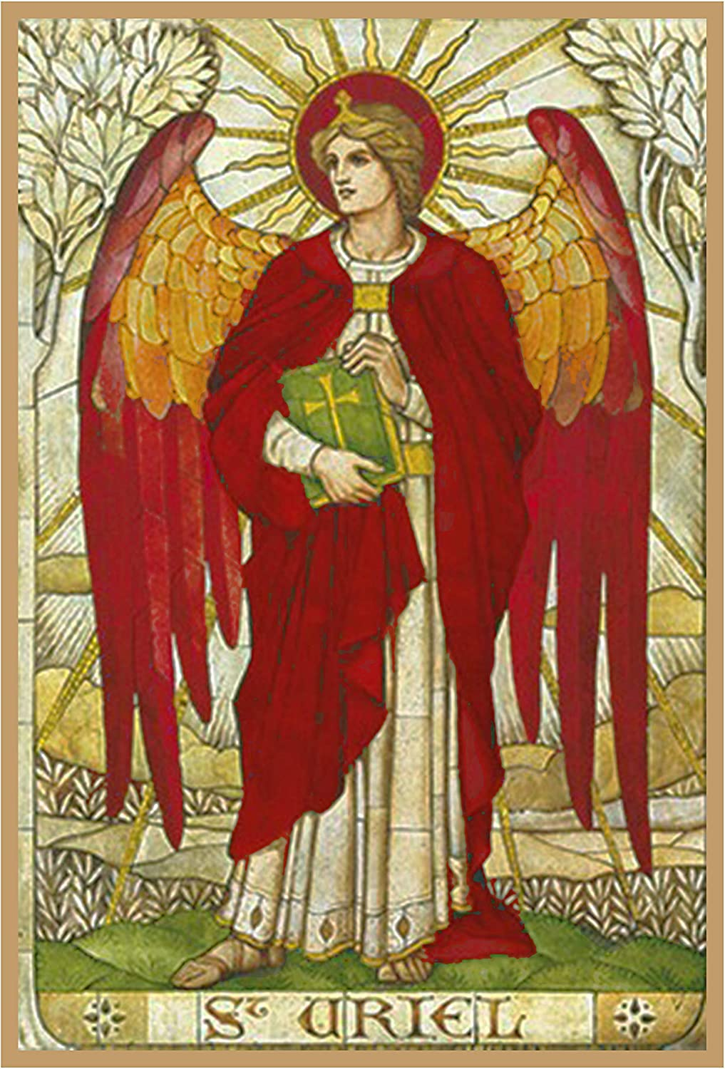 Arch Angel Uriel by Powell and Sons Counted Cross Stitch Pattern