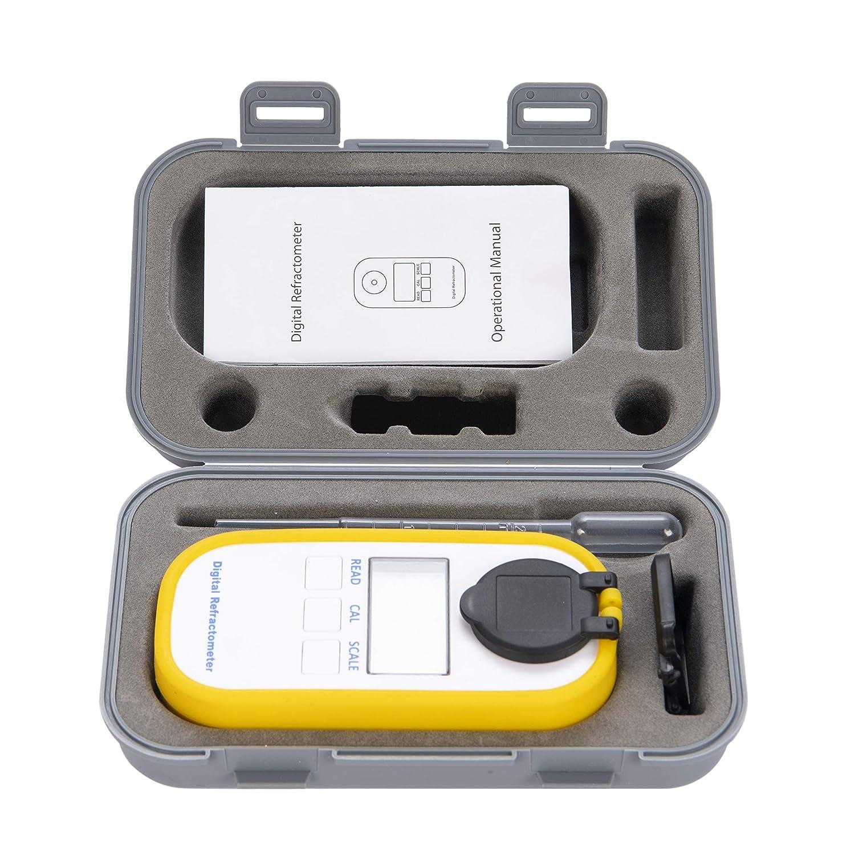 ATC Fruta Digital y Zumo de Fruta Beslands Brix-Meter DR101 Contenido de az/úcar analizador con Rango de Prueba de 0 a 50/% para Contenido de az/úcar Refract/ómetro de caf/é