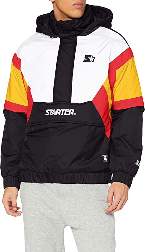 Starter Black Label Jacke Starter Color Block Half Zip Retro Jacket Lake Blue//S