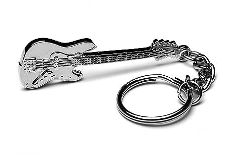 Llavero de metal para bajo de guitarra modelo Jazz Bass con ...