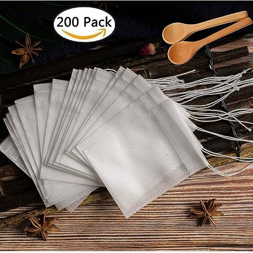 Bolsas de té desechables para filtro de té, en blanco ...