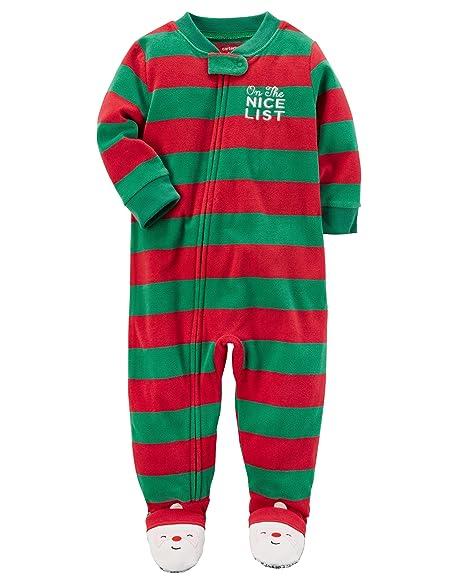 f45ccb16b0c5 Amazon.com  Carter s Boys  1-Piece Christmas Fleece PJs (5T ...