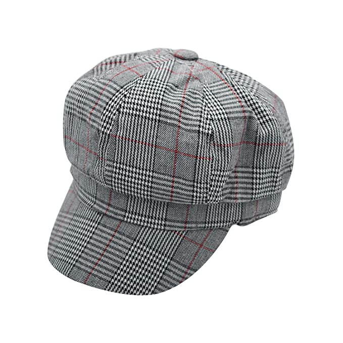 JEDAGX Unisex Mujeres Gorras de Moda Gorras Planas Sombrero de Boina con  Pico Baker Boy Newsboy Caps (56-57CM)  Amazon.es  Ropa y accesorios a59eaa29067