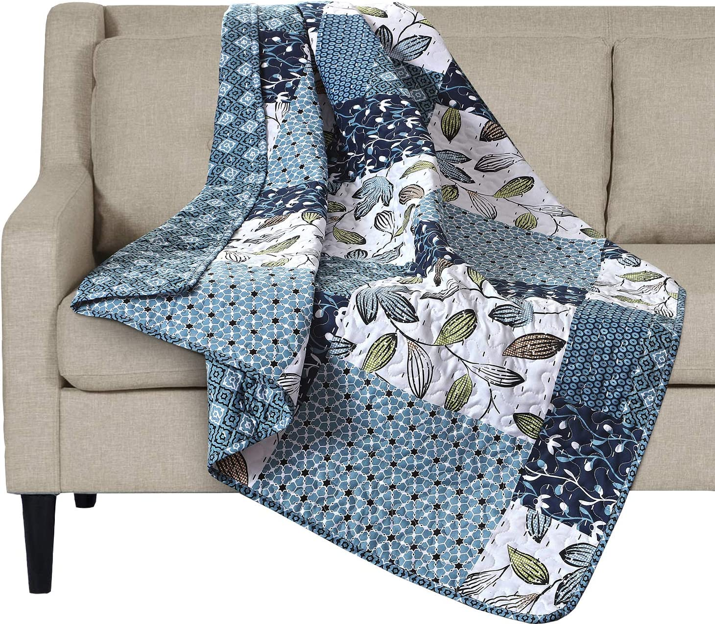 Quilt Blanket Printing in US White Christmas Version 1 Fleece Blanket