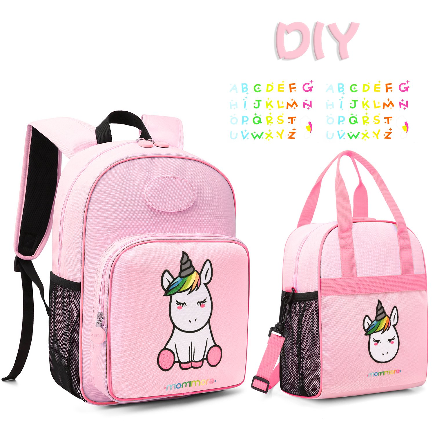 MOMMORE Cute Unicorn Kids Backpack Preschool Toddler Backpack for 3-7 Years Old Girls, Pink