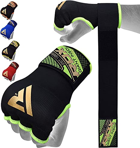 RDX Inner Boxing Gloves Hand Wraps Fist Gear MMA Protector Muay Thai Padded