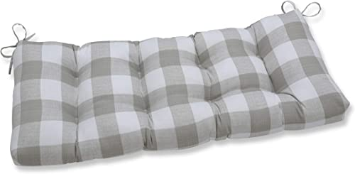 Pillow Perfect Outdoor/Indoor Anderson Coconut Tufted Bench/Swing Cushion