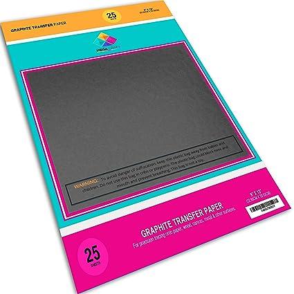 amazon com graphite transfer carbon paper 25 sheets 9 x 13