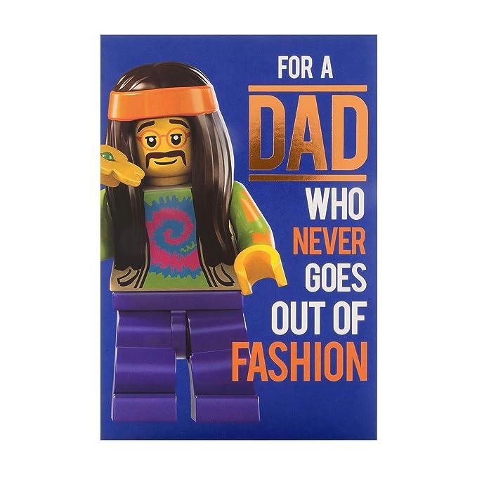 Tarjeta de cumpleaños para papá de Hallmark - diseño de Lego ...
