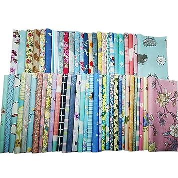 4f5eac164ea14c 30Pcs Baumwollstoff Patchwork Stoffe DIY Gewebe Quadrate Baumwolltuch  Stoffpaket zum Nähen mit vielfältigem Muster 30x30cm