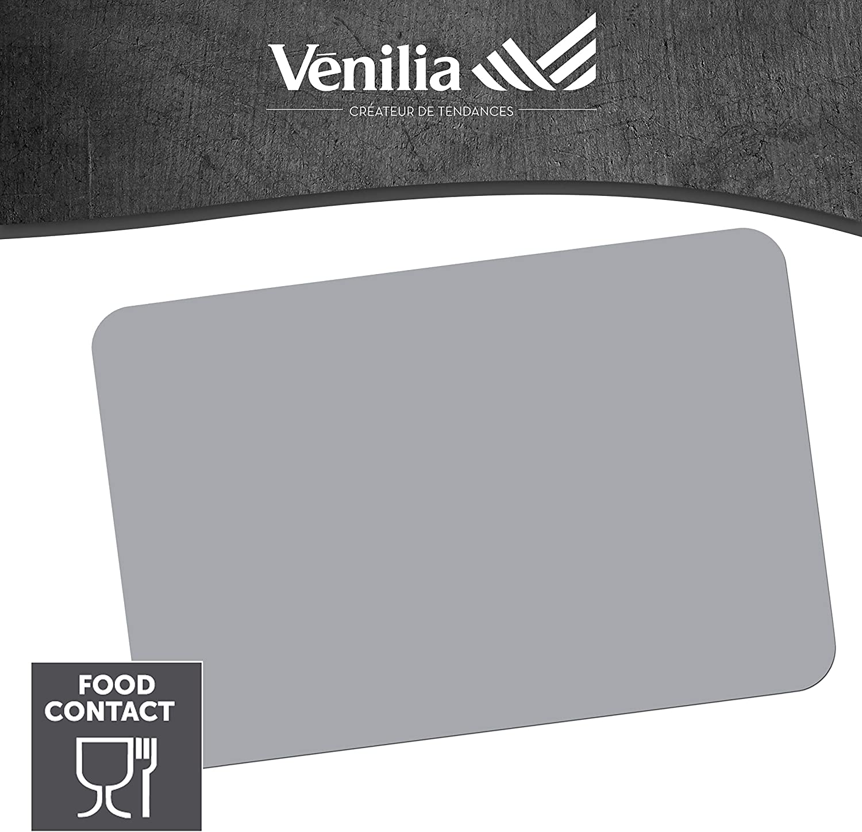 4 pcs Venilia Set de Table Grey 59038 antid/érapant r/ésiste /à la Chaleur et Fait 45 x 30 cm Polypropyl/ène