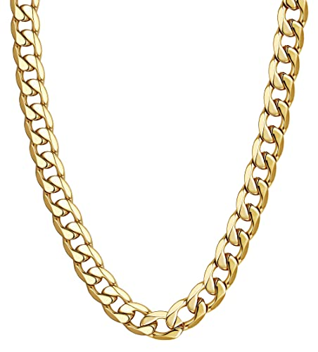 b5337ceb18cf0 LOYALLOOK Stainless Steel Plated Gold Chain Men Chain Necklace Figaro Chain  Necklace Men Punk Style Jewelry 20