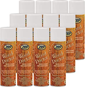 Zep Wood Doctor Professional Furniture Cleaner and Polish 6701 16 Oz (Case of 12) Excellent for furniture, woodwork, cabinets, floors, and any exposed wood surface.