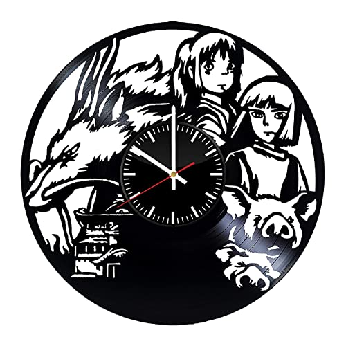 Amazon Com Spirited Away Vinyl Record Clock Yubaba Wall Art Chihiro Ogino Handmade Clock Spirited Away Vintage Clock Wall Accessories Gifts For Kids Handmade