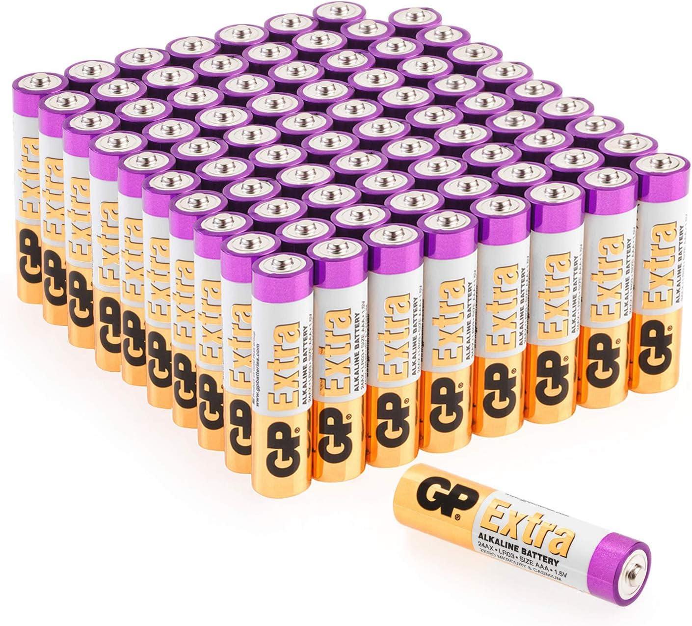 Gp Extra Alkaline Batterien Aaa Longlife 80 Stück Elektronik