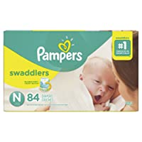 Pampers Swaddlers Disposable Baby Diapers Size 0 < 4.5 kg for Newborn, Super Pack, 84 Count