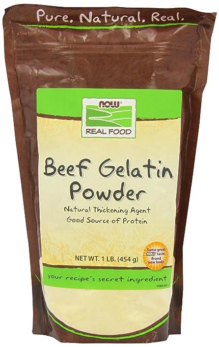 Now Foods Beef Gelatin Natural Powder 1 lb
