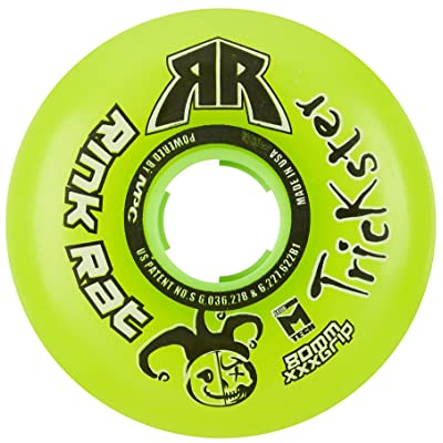 Rink Rat Single Wheel 76mm 76a Trickster Green Inline Indoor Roller Hockey: Toys & Games