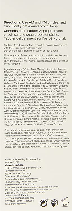 Strivectin - Sd Eye Concentrate For Wrinkles De Strivectin Para Mujeres Eye Concentrate For Wrinkles 1 Oz / 30 Ml: Amazon.es: Belleza