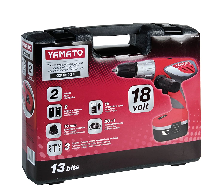 Yamato 7200017 Taladro Atornillador, 500 W, 18 V, Rosa/Gris: Amazon.es: Bricolaje y herramientas