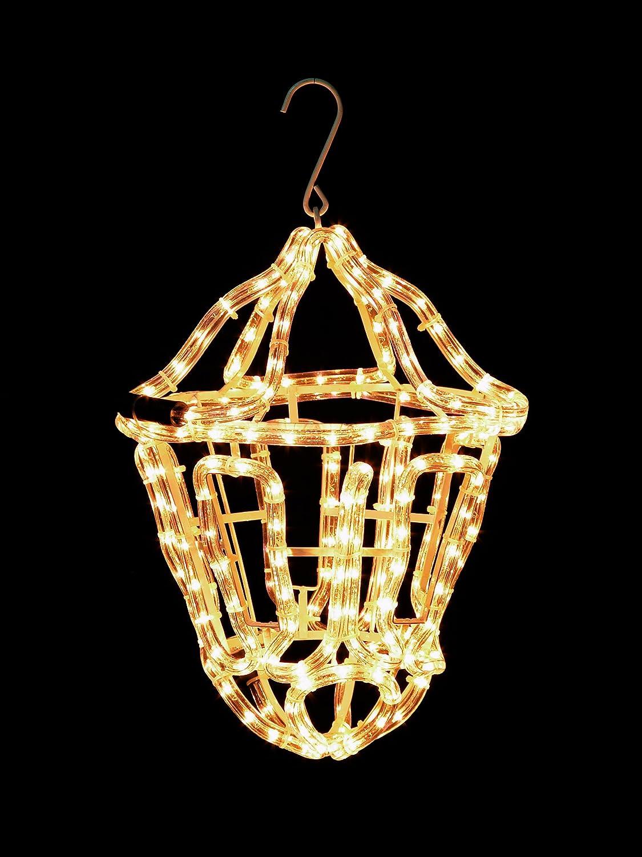 Werchristmas Hanging Lantern Rope Light Silhouette Outdoor Garden