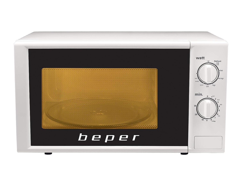 Beper - Horno microondas 20 litros con grill blanco: Amazon.es: Hogar