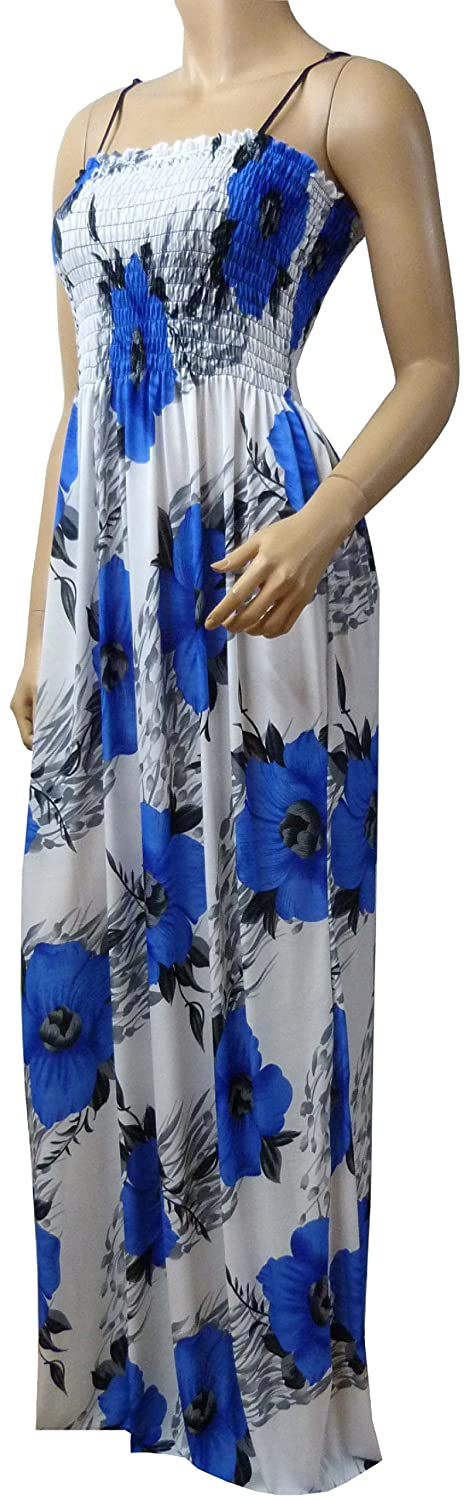 STRAPPY SUMMER MAXI DRESS (LEAF-17D)