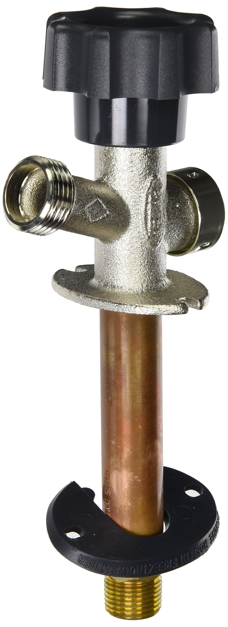 Prier 478-04 Mansfield Style Residential Anti-Siphon Wall Hydrant, 4-Inch