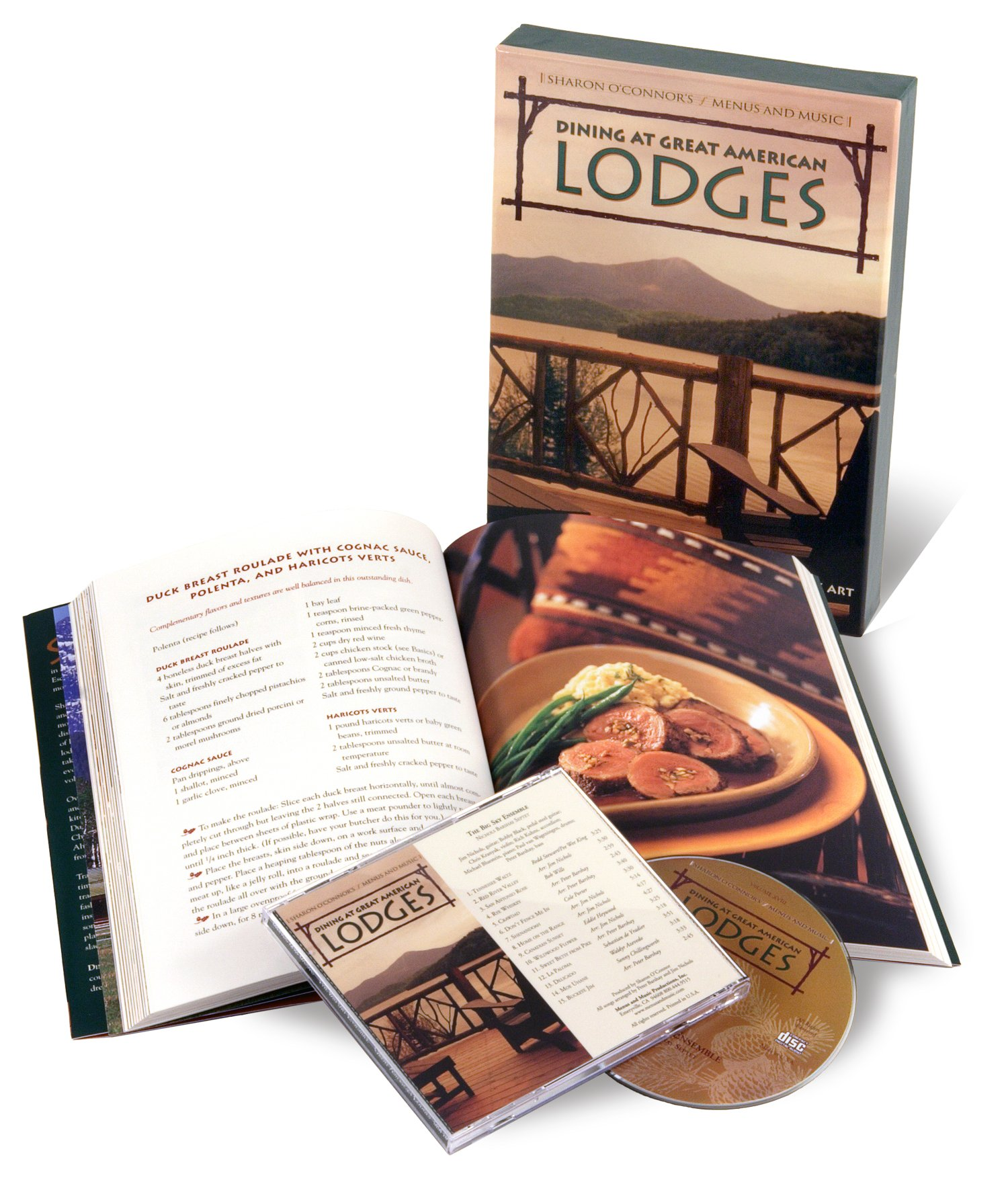 Dining at Great American Lodges: Recipes from Legendary Lodges; National Parks Lore and Wilderness Landscape Art; Music by the Big Sky Ensemble (Cookbook & Music CD Boxed Set) PDF Text fb2 ebook