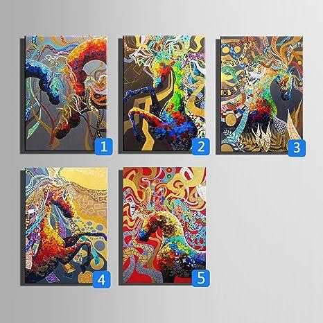 Hd Cavallo Multicolore Stampa Artistica Su Tela Pittura Poster Di