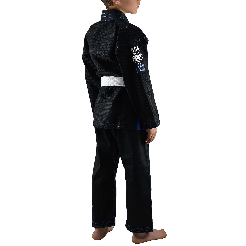 M Schwarz B/õa Kinder Kimono Le/ão 2.0 Bjj Gi