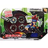 Shop & Shoppee 4 Metal Beyblades with Led Lights (4 Launchers & 1 Big Beyblade Stadium with 2 Spring Action Launcher) - Multicolor